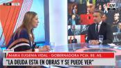 María Eugenia Vidal en 4Días con Luis Majul